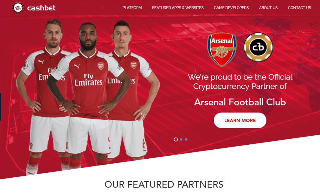 Clube de Futebol Arsenal Faz Parceria com Criptomoeda Parceria