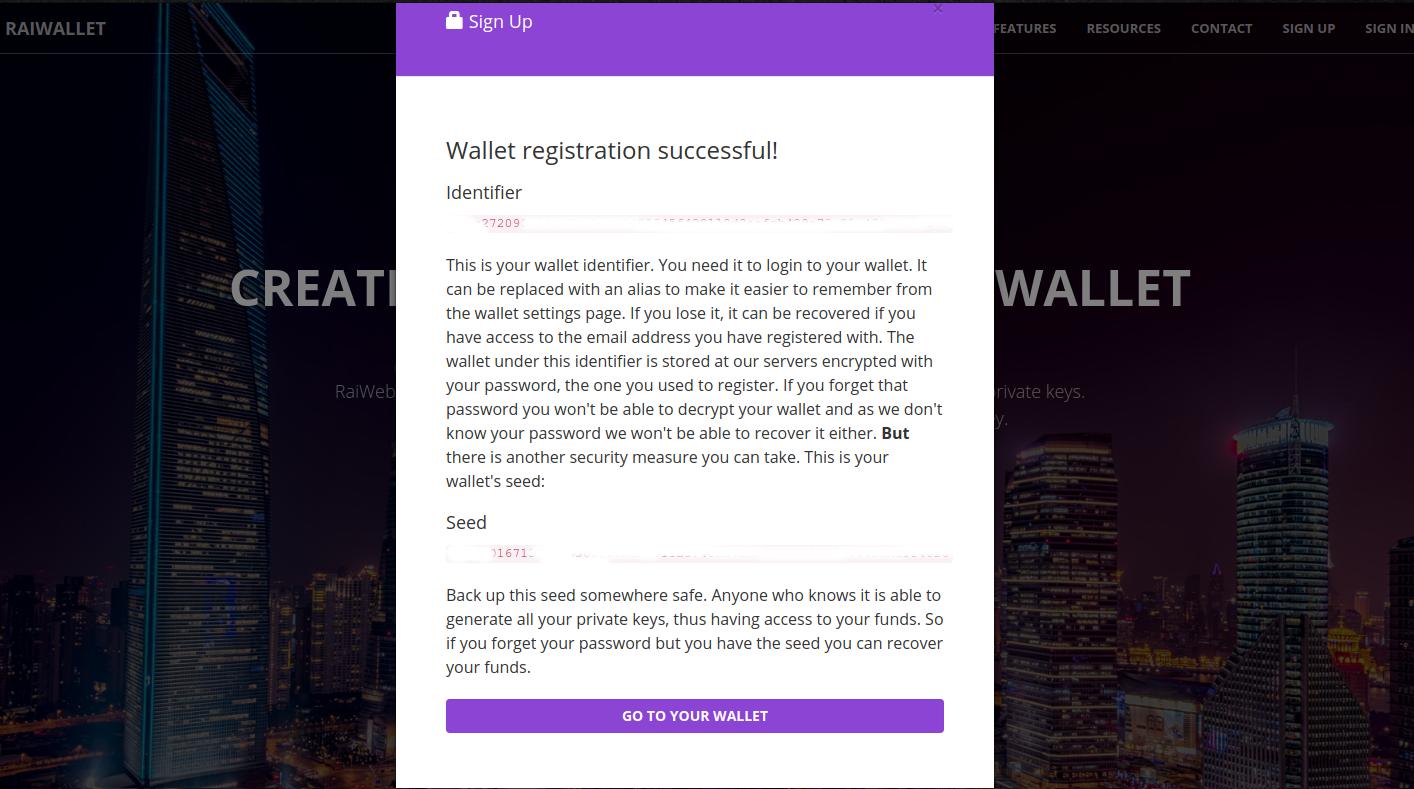 Raiwallet - Tutorial para criar conta na plataforma.