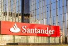 Letreiro do Banco Santander
