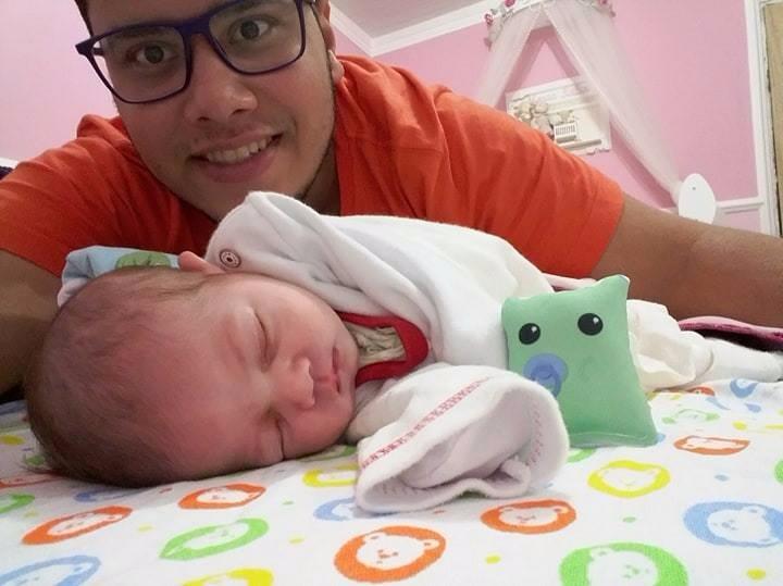 Maria Julia com o pai, Edson Neto (Foto: Arquivo pessoal)