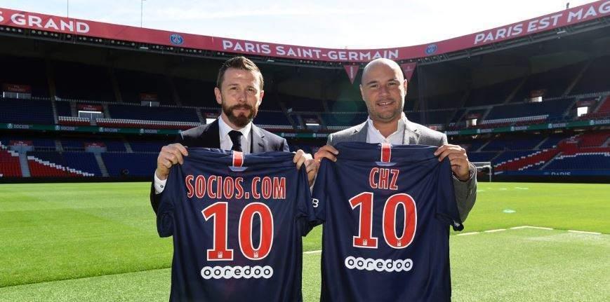 Alexandre Dreyfus, da empresa Socios.com, à direita  (Foto: Reprodução/Twitter)