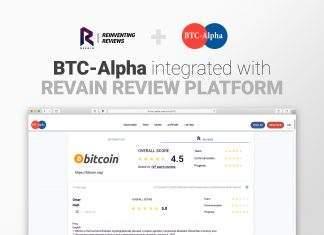 8a73e697ff Plataforma de avaliações da Revain integra com BTC-Alpha
