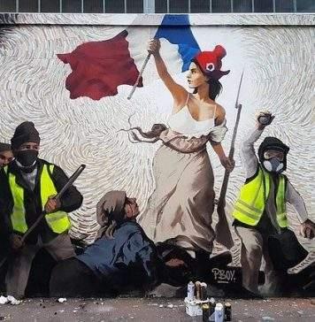 Artista de rua esconde mil dólares em Bitcoin dentro de mural sobre protestos em Paris