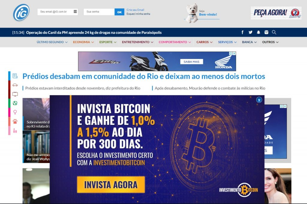 WhatsApp Image 2019 04 12 at 13.18.18 1024x681 - Esquema suspeito de pirâmide financeira com Bitcoin faz propaganda em grande site do Brasil