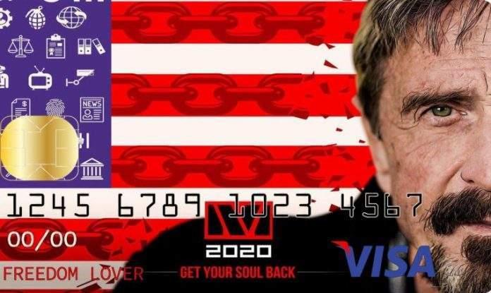 John McAfee diz que vai criar cartão de crédito Visa para quem tem Bitcoin