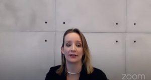 Mariana Tumbiolo Tosi durante a live do MPF SP (Foto: Reprodução/Youtube)