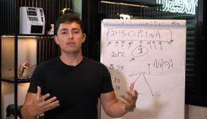 Em live no Youtube, trader de IQ Option Diego Bruno se defendeu de acusações (Foto: Reprodução)